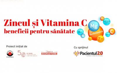 Zincul și vitamina C în menținerea sănătății și potențialele beneficii în pandemia COVID-19